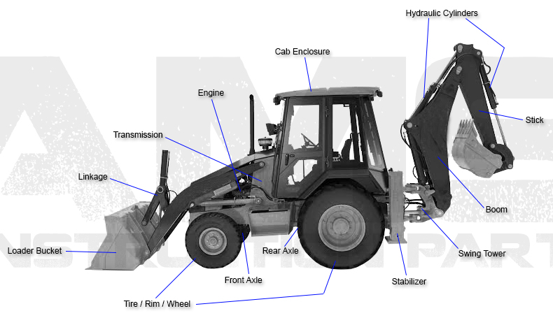 Caterpillar backhoe replacement parts caterpillar backhoe diagram fandeluxe Images