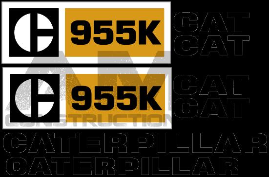 caricatore cingolato 955 k caterpillar ( bruco) un classico senza tempo 955K-Decals